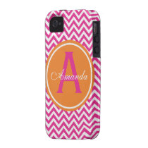 Preppy Chevron in Hot Pink iPhone 4 Covers