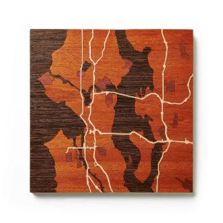 Seattle WA by Woodcut Maps
