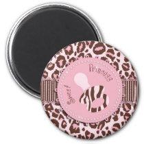 Cheetah Girl Magnet Pink B