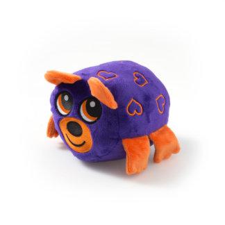 Purple Bear with Orange Hearts Stuffed Animal
