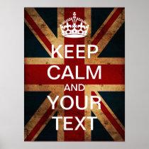 Create Your Own Keep Calm & Carry On! (Union Jack) Print