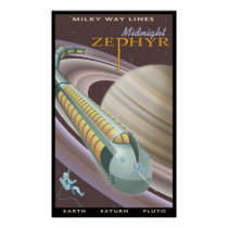 Travel to Saturn Poster