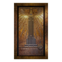 12x20 Empire State Building Poster Print