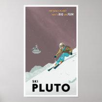 Ski Pluto Poster