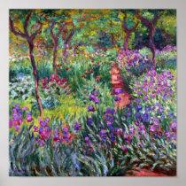 The Iris Garden at Giverny, Claude Monet Poster