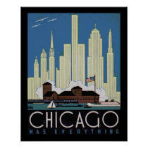 Vintage poster of chicago