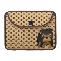 Kawaii Cute Yorkshire Terrier Puppy Dog Sleeves For MacBook Pro