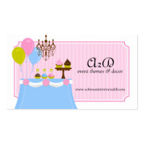 Event Stylist Custom Business Cards Business Cards