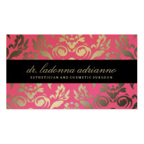 311 Ladonna Damask Pink Business Card