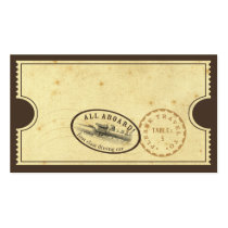 Vintage Ticket - Train Escort Card Business Card Templates