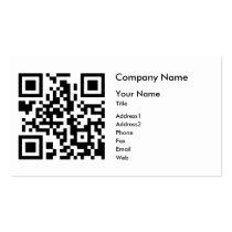 QR Code Business Card Template - Horizontal
