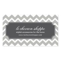Stylish Chevron Pattern Business Card