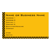 Taxi or Cab Service Business Profile Card Business Card