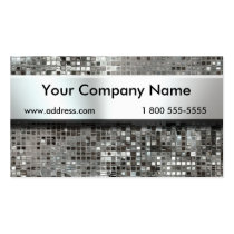 Nameplate On Sequins Business Cards