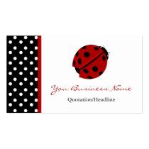 Polka Dot Trimmed Lady Bug Business Cards