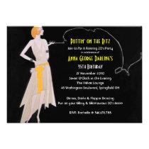 Roaring 20's - Flapper Party Invitations