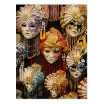 Carnival Masks in Venice Italy Post Cards