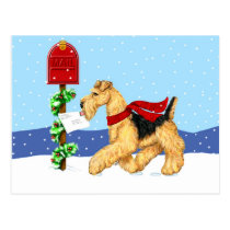 Airedale Christmas Dale Mail Post Cards