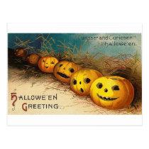Pumpkin Row - Curioser and Curioser Postcard