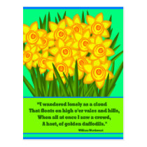 Daffodils Poem, postcard