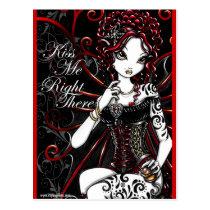 Sasha Red Corset Tattoo Fairy Postcard