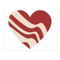 Bacon Heart Postcard
