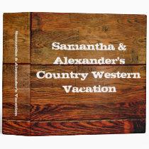 Faux Oiled Wood Plank Personalized Custom Vinyl Binders