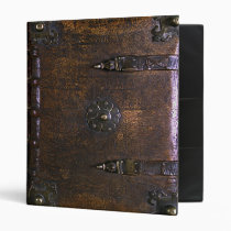 Vintage Faux Leather Print Gothic Binder
