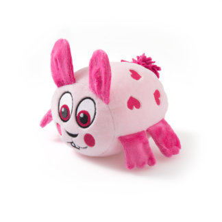 Pink Rabbit with Hearts Stuffed Animal