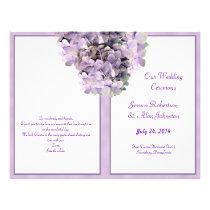 Purple Hydrangea Template Wedding Program Flyers