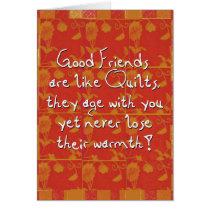 good friends greeting greeting card