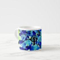 Blue Wisteria Espresso Mugs
