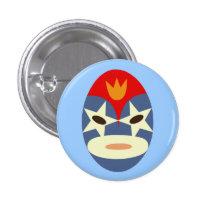 Blue Lucha Libre Mask Pin