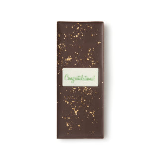 Golden Congratulations Dark Chocolate Bar