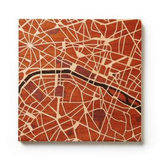 Paris France by Woodcut Maps