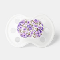 Painted Violets Pacifiers