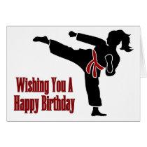 Rank Belt Girl Happy Birthday Card