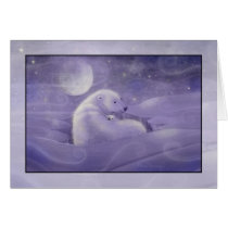 Polar Bear and Cub Christmas Card