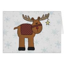 Reindeer in Snow Cards