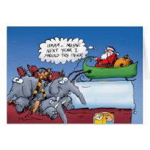 Santa's Elephants Greeting Card