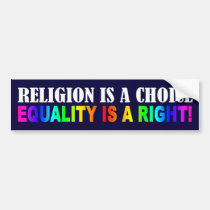 RELIGION IS A CHOICE BUMPER STICKERS