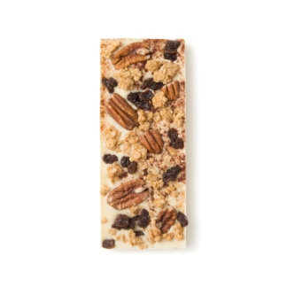 Pecan, Raisin, Vanilla Granola and Cinnamon White Chocolate Bar