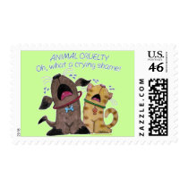 Crying dog and cat crying shame stamp