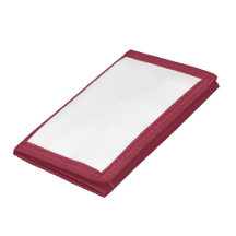 Red TriFold Nylon Wallet