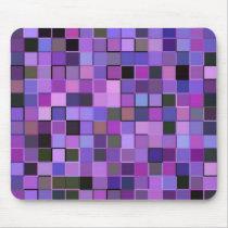 Purple Squares Mouse Pad