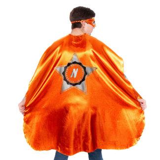 Traje anaranjado adulto del super héroe con la