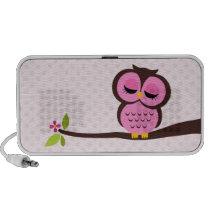 Pink Owl Portable Speakers