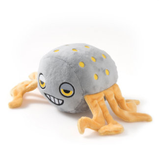 Gray Octopus with Yellow Polka Dots Stuffed Animal