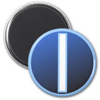 Isaz Isa Ice Rune 2 Inch Round Magnet