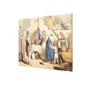 Isba, grabado al agua fuerte por el artista, publi impresión en lienzo